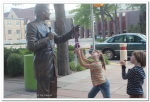 Statue of Bill Clinton in Rapid City