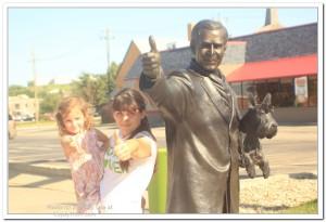 Statue of President Bush