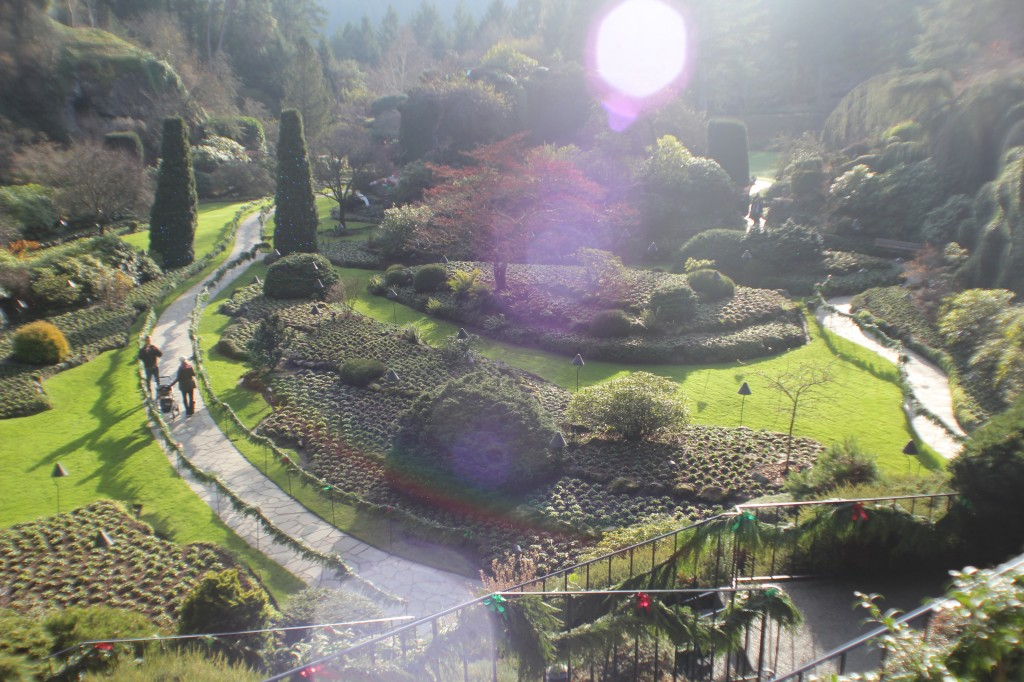 The Sunken Garden at Butchart gardens in Victoria, Vancouver BC
